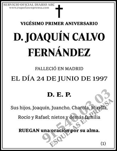 Joaquín Calvo Fernández